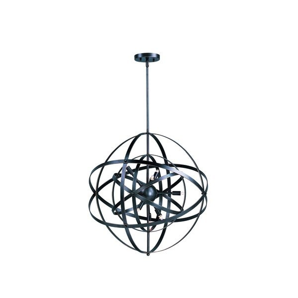 Metal 6-light Bronze Sputnik Single Pendant