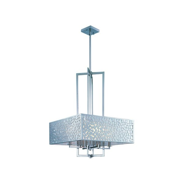 Metal 8-light Nickel Matrix Single Pendant