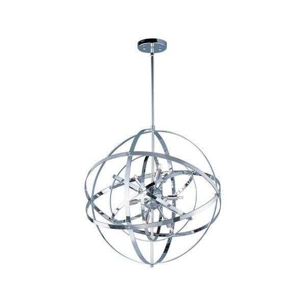 Metal 9-light Chrome Sputnik Single Pendant