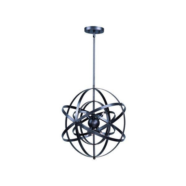 Metal 9-light Bronze Sputnik Single Pendant