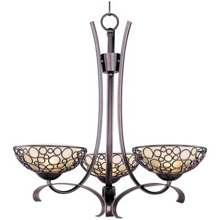 Maxim Lighting Meridian 3-light Bronze Singletier Chandelier