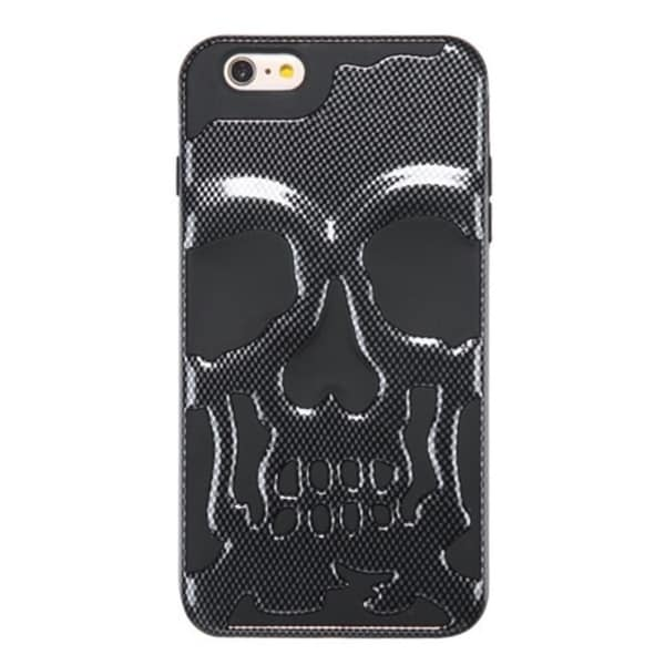 Insten Black Skullcap Hard PC/ Silicone Dual Layer Hybrid Phone Case Cover For Apple iPhone 6 Plus