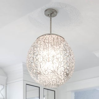 Maxim Lighting Arabesque 9-light Nickel Single Pendant