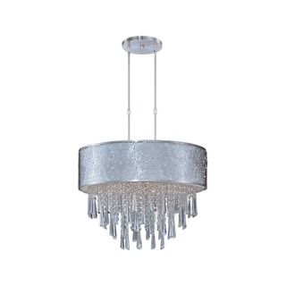 Stainless steel 9-light Nickel Rapture Single Pendant
