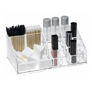 Clear Acrylic Lipstick and Brush Organizer
