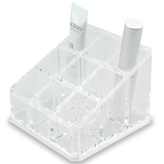 Clear Acrylic 9-compartment Cosmetic Organizer