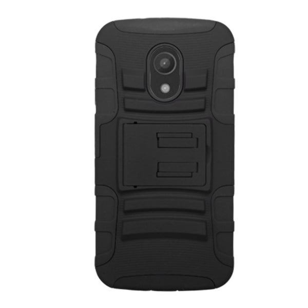 Insten Advanced Armor Hard PC/ Silicone Dual Layer Hybrid Phone Case Cover with Stand For Motorola Moto G 2nd Gen
