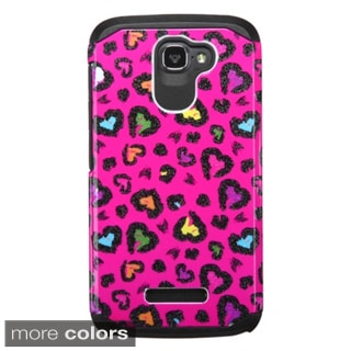 Insten Design Pattern Hard PC/ Silicone Dual Layer Hybrid Phone Case Cover For Alcatel One Touch Fierce 2 7040T
