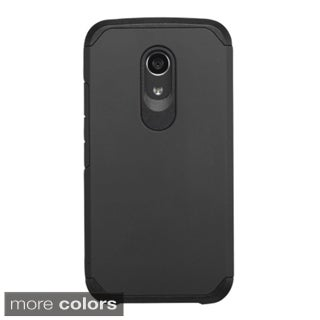 Insten Hard PC/ Silicone Dual Layer Hybrid Rubberized Matte Phone Case Cover For Motorola Moto G 2nd Gen