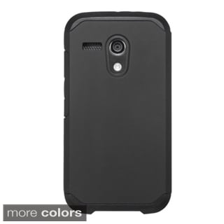 Insten Hard PC/ Silicone Dual Layer Hybrid Rubberized Matte Phone Case Cover For Motorola Moto G 1st Gen