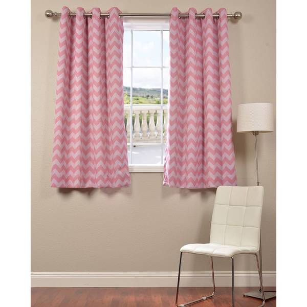 Pink Chevron Grommet Blackout 63-inch Curtain - Overstock Shopping ...