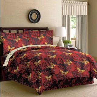 Chin-Li Chinese Butterfly Garden 8-piece Bed in a Bag Set