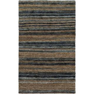 Hand-Woven Jeff Stripe Hemp Textured Rug (8' x 11')