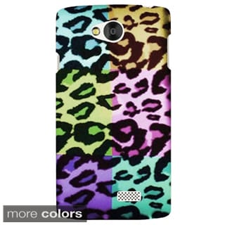 Insten Colorful Pattern Hard Snap-on Rubberized Matte Phone Case Cover For LG Optimus F60