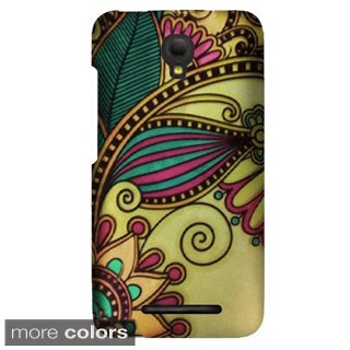 Insten Pattern Design Hard Snap-on Rubberized Matte Phone Case Cover For Alcatel One Touch Pop Mega