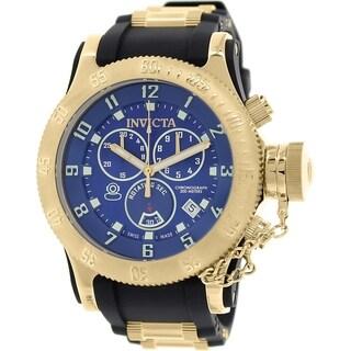 Invicta Men's Russian Diver 15563 Black Rubber Swiss Chronograph Watch