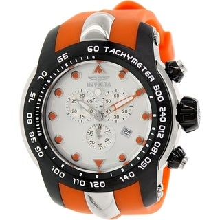 Invicta Men's Pro Diver 17808 Orange Rubber Swiss Chronograph Watch