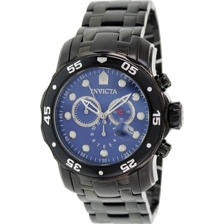 Invicta Men's Pro Diver 80077 Black Stainless Steel Swiss Chronograph Watch