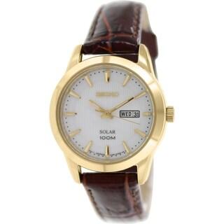 Seiko Women's SUT164P2 Red Brown Leather Quartz Watch