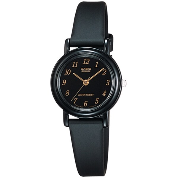 Casio Women's Core LQ139A-1 Black Resin Quartz Watch
