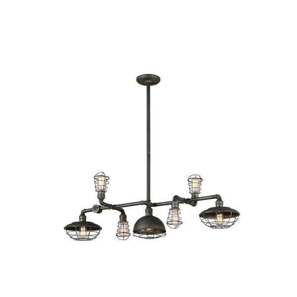 Troy Lighting Conduit 7-light Pendant Island