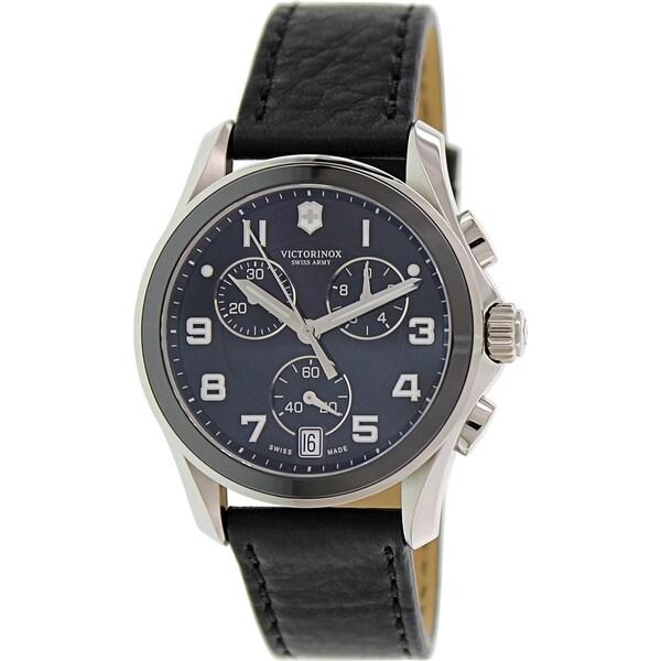 Victorinox Swiss Army Men's Classic 241545 Black Leather Swiss Chronograph Watch