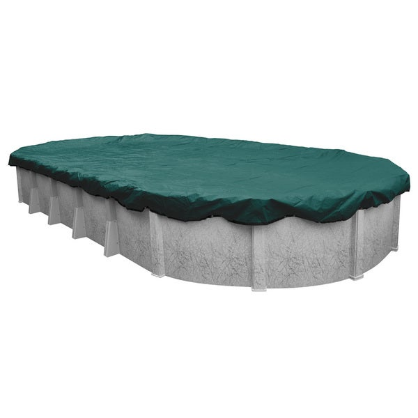 Robelle supreme plus premier winter cover for oval above - Above ground swimming pool covers reviews ...