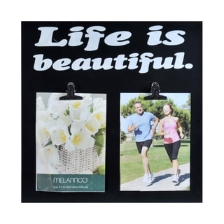 Melannco 'Life Is Beautiful' Clip Collage Picture Frame