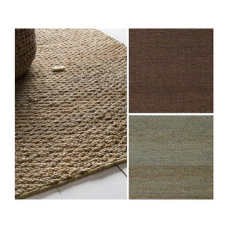 Hand-Woven Milagros Solid Pattern Jute Rug (2' x 3')