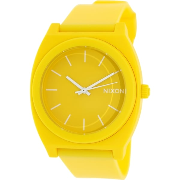 Nixon Men's Time Teller P A1191230 Yellow Resin Quartz Watch