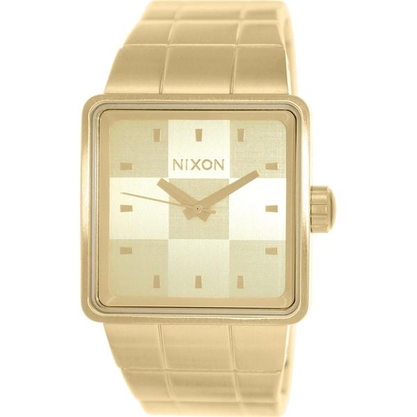 Nixon Men's Quatro A013502 Goldtone Stainless Steel Quartz Watch