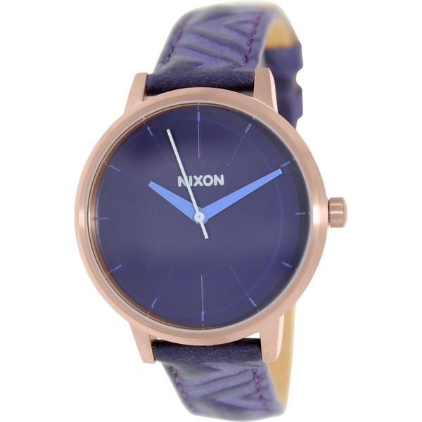 Nixon Women's Kensington A1081674 Blue Leather Quartz Watch