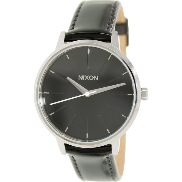 Nixon Women's Kensington A1081392 Black Leather Quartz Watch