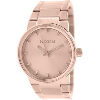 Nixon Men's Cannon A160897 Rose-goldtone Stainless Steel Quartz Watch