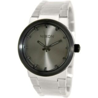 Nixon Men's Cannon A1601762 Silvertone Quartz Watch
