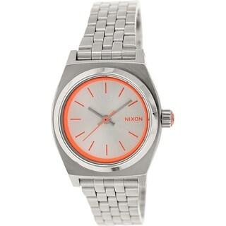Nixon Women's Time Teller A3991764 Metallic Stainless Steel Quartz Watch