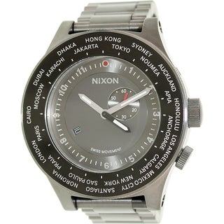 Nixon Men's Passport A379131 Grey Stainless Steel Swiss Quartz Watch