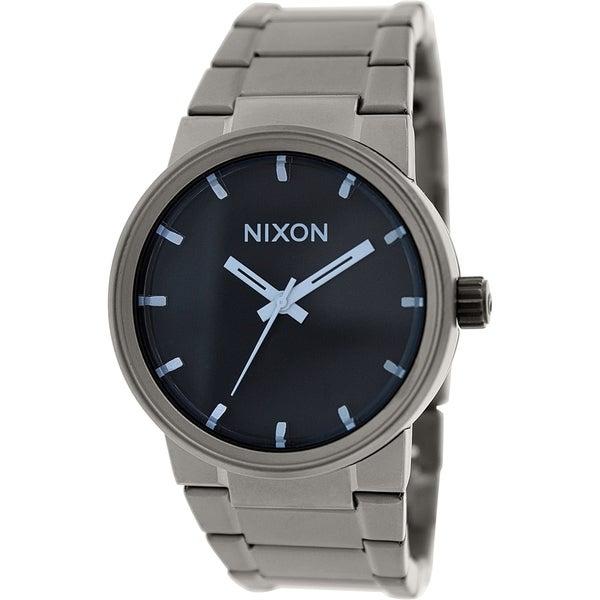 Nixon Men's Cannon A1601427 Gunmetal Stainless Steel Quartz Watch