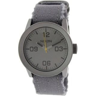 Nixon Men's Private A0491894 Grey Cloth Quartz Watch
