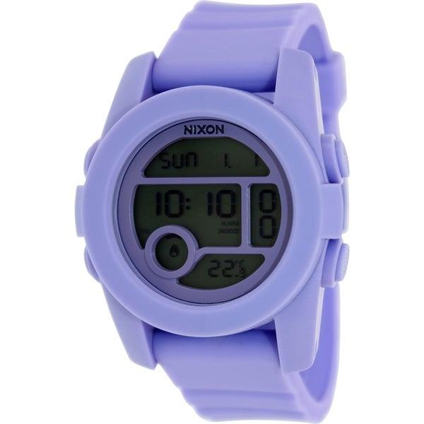 Nixon Men's Unit A4901366 Purple Rubber Quartz Watch