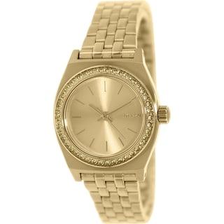 Nixon Women's Time Teller A3991520 Goldtone Stainless Steel Quartz Watch