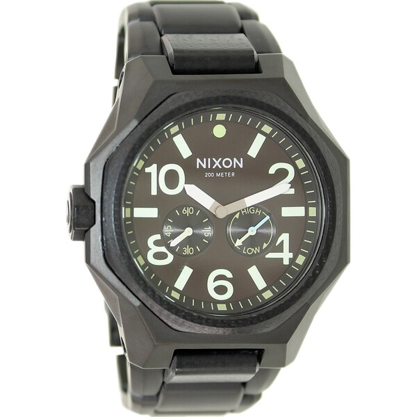 Nixon Men's Tangent A3971042 Black Stainless Steel Swiss Quartz Watch