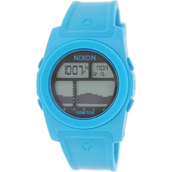 Nixon Men's Rhythm A385917 Blue Silicone Quartz Watch