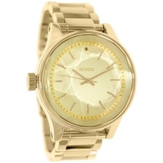 Nixon Men's Facet A384502 Goldtone Stainless Steel Quartz Watch