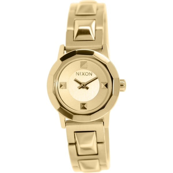 Nixon Women's Mini B A339502 Goldtone Stainless Steel Quartz Watch