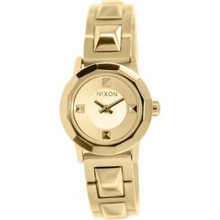 Nixon Women's Mini B A339502 Goldtone Stainless Steel Quartz Watch