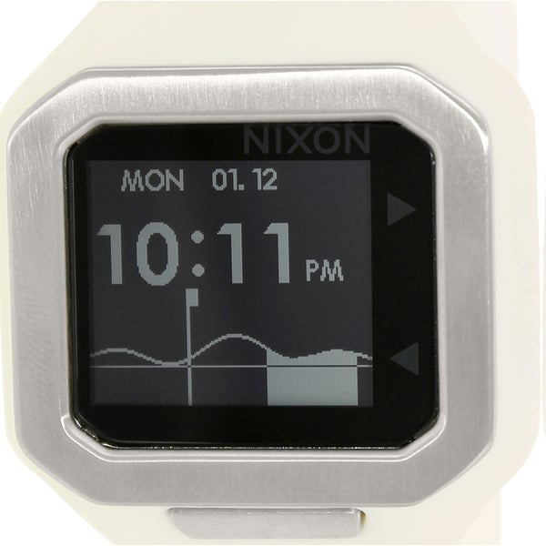 Nixon Men's Supertide A316100 White Silicone Quartz Watch