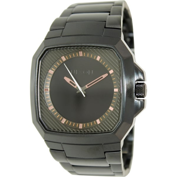 Nixon Men's Deck A3081530 Black Stainless Steel Quartz Watch