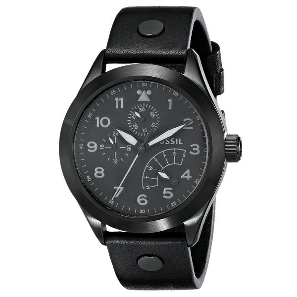 Fossil Men's CH2940 Black Leather Quartz Watch