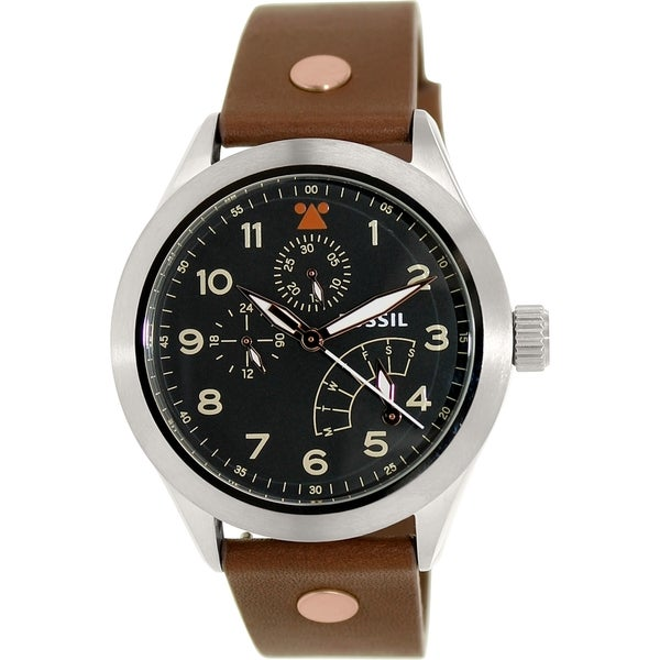 Fossil Men's CH2939 Brown Leather Quartz Watch